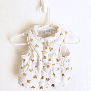 HealthTex Girl's Heart Quilted Vest, Size Newborn